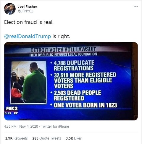 Detroit voter roll lawsuit - election fraud is real