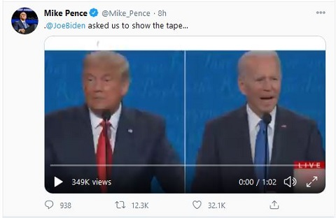 Mike Pence: Joe Biden asked us to show the tape