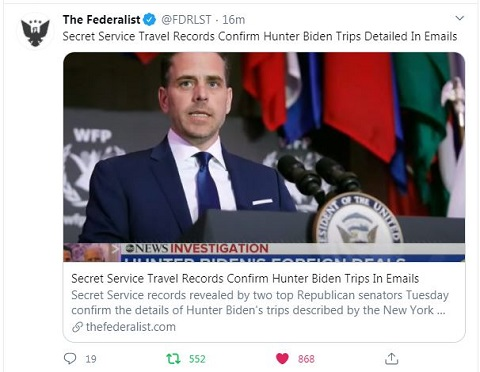 The Secret Service confirms the travel details in the Hunter Biden emails