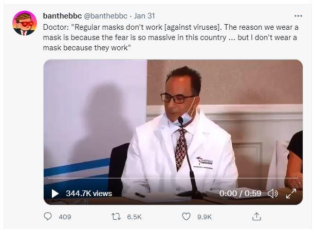 Dr: Regular Masks don't work