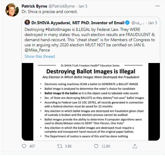Destroying Ballot Images is Illegal