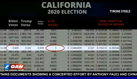 Evidence of illegal fractional voting used in the 2020 Election