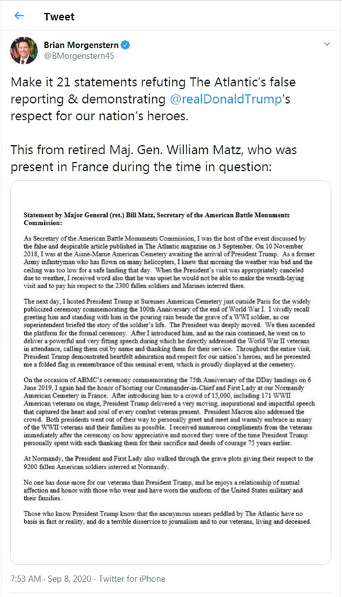 Brian Morgenstern Denies Atlantic Story