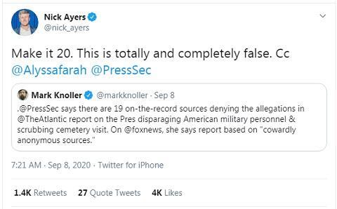 Nick Ayers Denies Atlantic Story