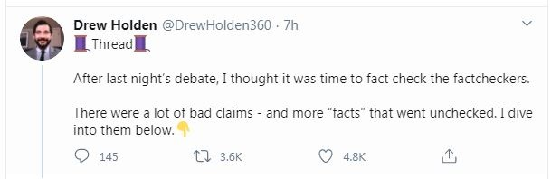 Drew Hold fact check