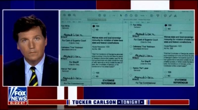 Tucker Carlson - Duplicate Georgia ballos